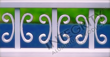 White Aluminum Fencing With Butterfly Scrolls on Vertical Pickets