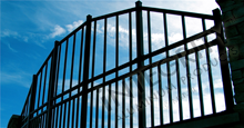 Customized Black Aluminum Fence Panels and Gate