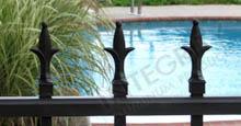 Fleur de Lis Finials Aluminum Spear Top Fence Style