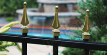 Gold Aluminum Excelsior Finials: Gold Aluminum Fence Accessories Available