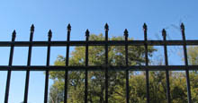 Ornamental Aluminum Fence Panels With Staggered Height Spear Tops