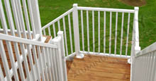 Hand Railing Fence Panels In White