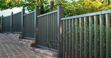 Ventura Aluminum Fencing With Graded Stepping