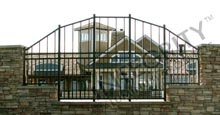 Aluminum Fence With Customized Aluminum Picket Heights