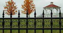 Castile Style DecorativeAluminum Fencing With Butterfly Scrolls and Finials
