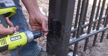 Adding Screws To The Aluminum Gate Once Properly Installed