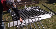 Unpacking Aluminum Fence Supplies for Installtion