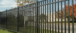 Black San Marino Ultimate Aluminum Commercial Fence and Gate