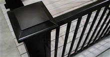 Black Aluminum Corner Fence Post and Fence Panels