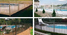 Four Different Placements of Perimeter Aluminum Pool Fencing