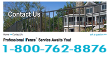Online Contact Tool That Allows You To Email an Aluminum Fence and Gate Professional