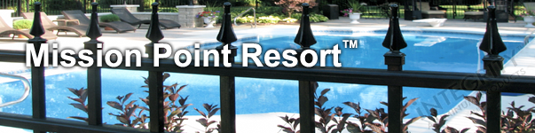Mission Point Ornamental Pool Fence With Finials