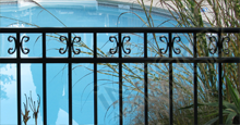 Amarillo Aluminum Pool Fencing With Decorative Butterfly Scrolls