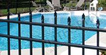 Bella Terra Aluminum Pool Fencing With Staggered Height Flat Finials