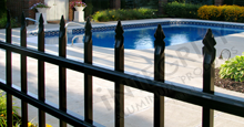 Bella Vista Aluminum Pool Fencing With Flat Finials