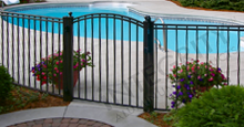 Boca Grande Black Metal Pool Fence Panels and Gate