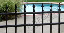 Charlemagne Aluminum Pool Fencing With Decorative Historic Fleur de Lis Finials