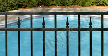 Excelsior Aluminum Pool Fencing With Contemporary Finials
