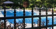 Mission Point Aluminum Pool Fencing With Finials
