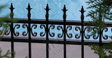 Valencia Aluminum Pool Fencing With Historic Fleur de Lis Finials and Butterfly Scrolls