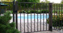 Ventura Black Metal Pool Fence Panels and Gate