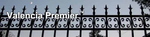 Valencia Ornamental Commercial Fence With Historic Fleur de Lis Finials and Butterfly Scrolls