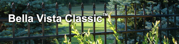 Bella Vista Ornamental Residential Fence With Flat Finials