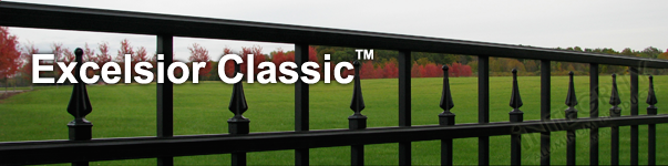 Excelsior Ornamental Residential Fence With Contemporary Finials