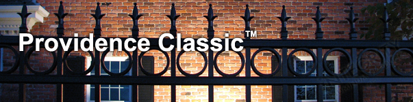 Providence Ornamental Residential Fence With Historic Fleur de Lis Finials and Decorative Circles