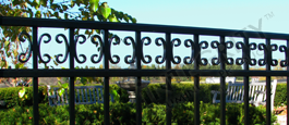 Camarillo Commerical Grade Fence With Decorative Butterfly Scrolls