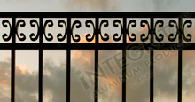 Camarillo Black Metal Commerical Fence Panels With Butterfly Scrolls