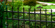 Charlemagne Aluminum Residential Fencing With Decorative Historic Fleur de Lis Finials