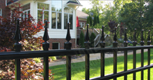 Mission Point Aluminum Residential Fencing With Finials