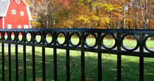 Napa Valley Aluminum Commercial Fencing With Decorative Circles