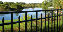 Sanibel Aluminum Residential Fencing With Flattened Finials