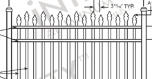 Bella Terra Aluminum Fences and Gates Schematics