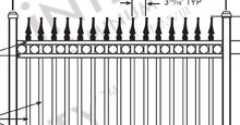 Camelot Aluminum Fences and Gates Schematics