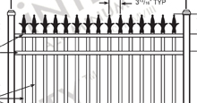 Charlemagne Aluminum Fences and Gates Schematics