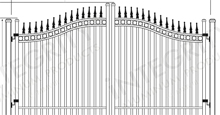 Regal Wave Arched Gates