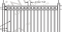 Napa Valley Aluminum Fences and Gates Schematics