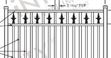 New Orleans Aluminum Fences and Gates Schematics
