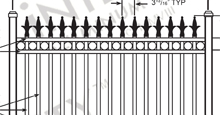 Providence Aluminum Fences and Gates Schematics