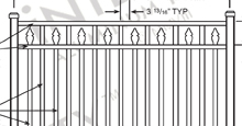 Sanibel Aluminum Fences and Gates Schematics