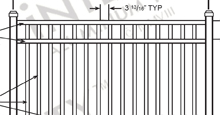 San Marino Aluminum Fences and Gates Schematics