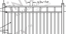 Santa Monica Aluminum Fences and Gates Schematics