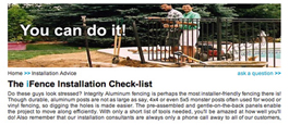 Online Step-By-Step Information On Proper Aluminum Fence Installation