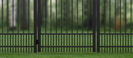 Aluminum Classic Pickets Puppy Safe Fencing Option