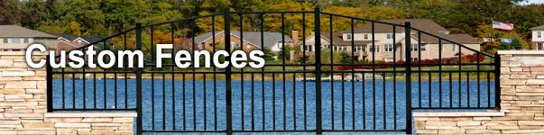 Non-Conforming Custom Aluminum Fence Installed