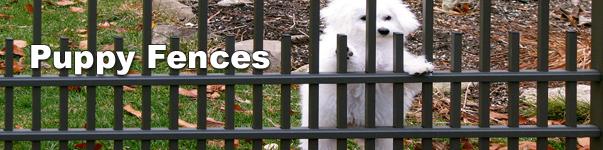 Puppy Safe Aluminum Fence Option