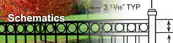 Maintenance-free Aluminum Fences